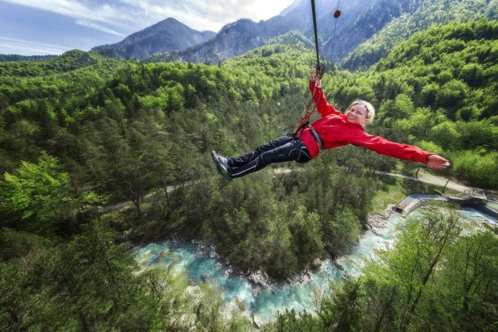 Aktivitäten Klettern Kinder Kärnten Waldseilpark Tscheppaschlucht Rosental