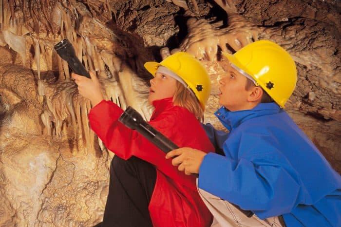 Höhlenforscherspiel mit Schatzsuche in den Obir Tropfsteinhöhlen
