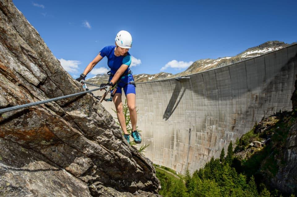 Klettern Maltatal vor Kölnbreinsperre in Kärnten