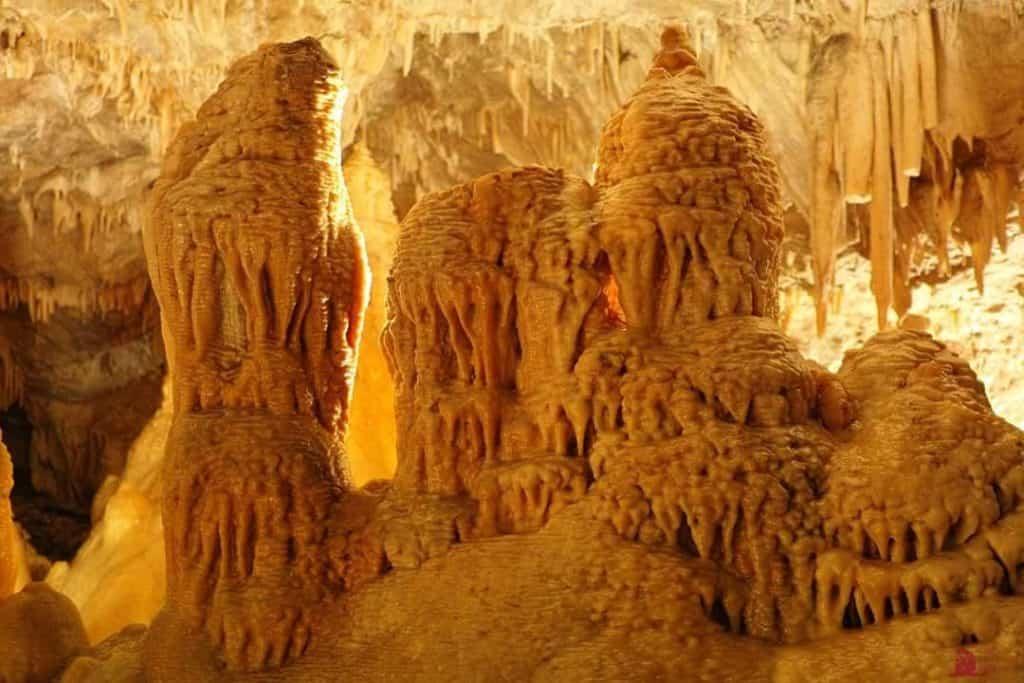 Tropfsteine in den Obir Höhlen - Klopeinersee Südkärnten