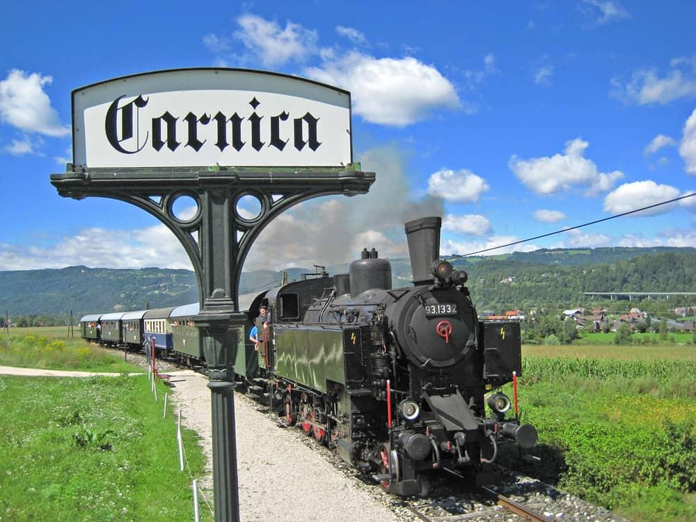 Sehenswerte Nostalgiebahn Rosental in Kärnten Carnica Region Rosental