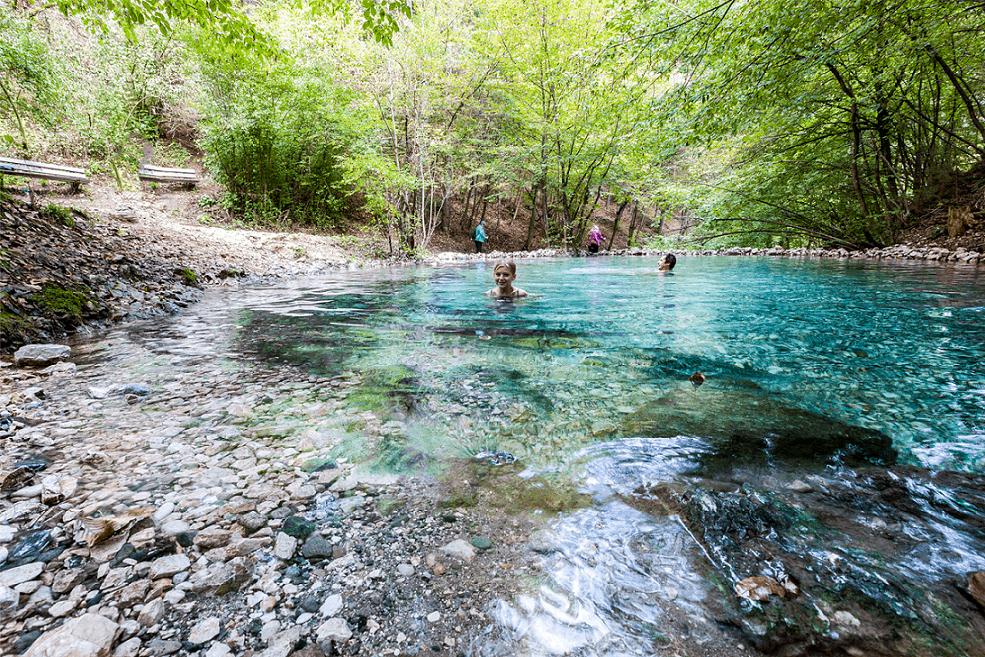 Ausflugstipp Villach Kärnten - Maibachl baden und wandern Warmbad