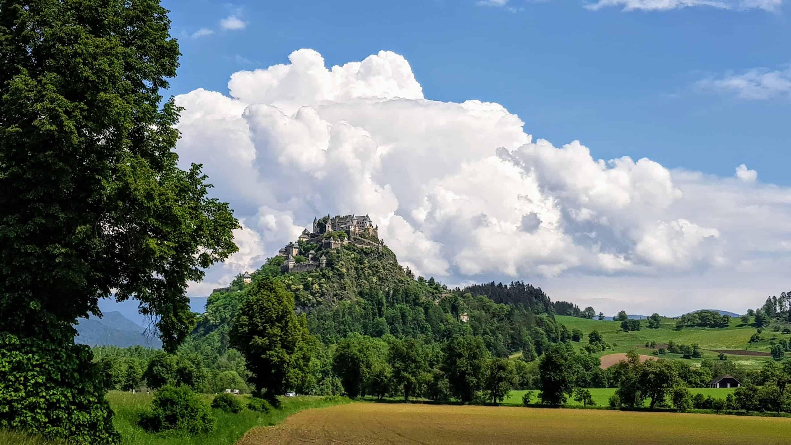 Anfahrt Burg Hochosterwitz Frühling Kärnten Ausflug