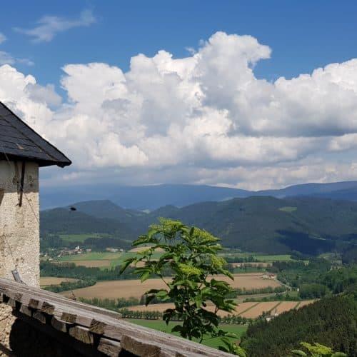 Aussicht auf der Burg Hochosterwitz in Kärnten - Österreich