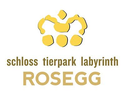 Logo Tierpark Schloss Labyrinth Rosegg in Kärnten - Ausflugstipp in Österreich, Sehenswürdigkeit in Carnica Region Rosental