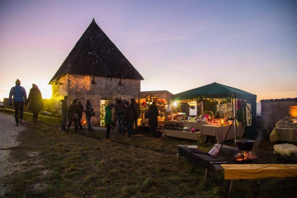 Weihnachtsmarkt auf der Burg Hochosterwitz in Kärnten