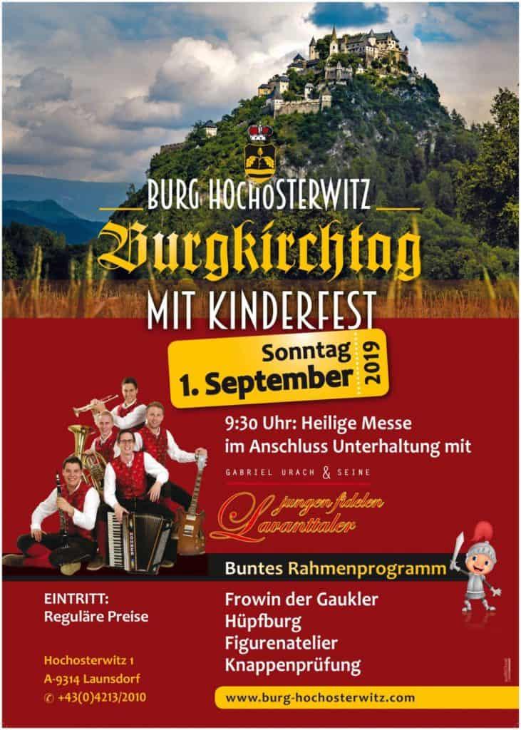 Burgkirchtag mit Kinderfest auf der Burg Hochosterwitz