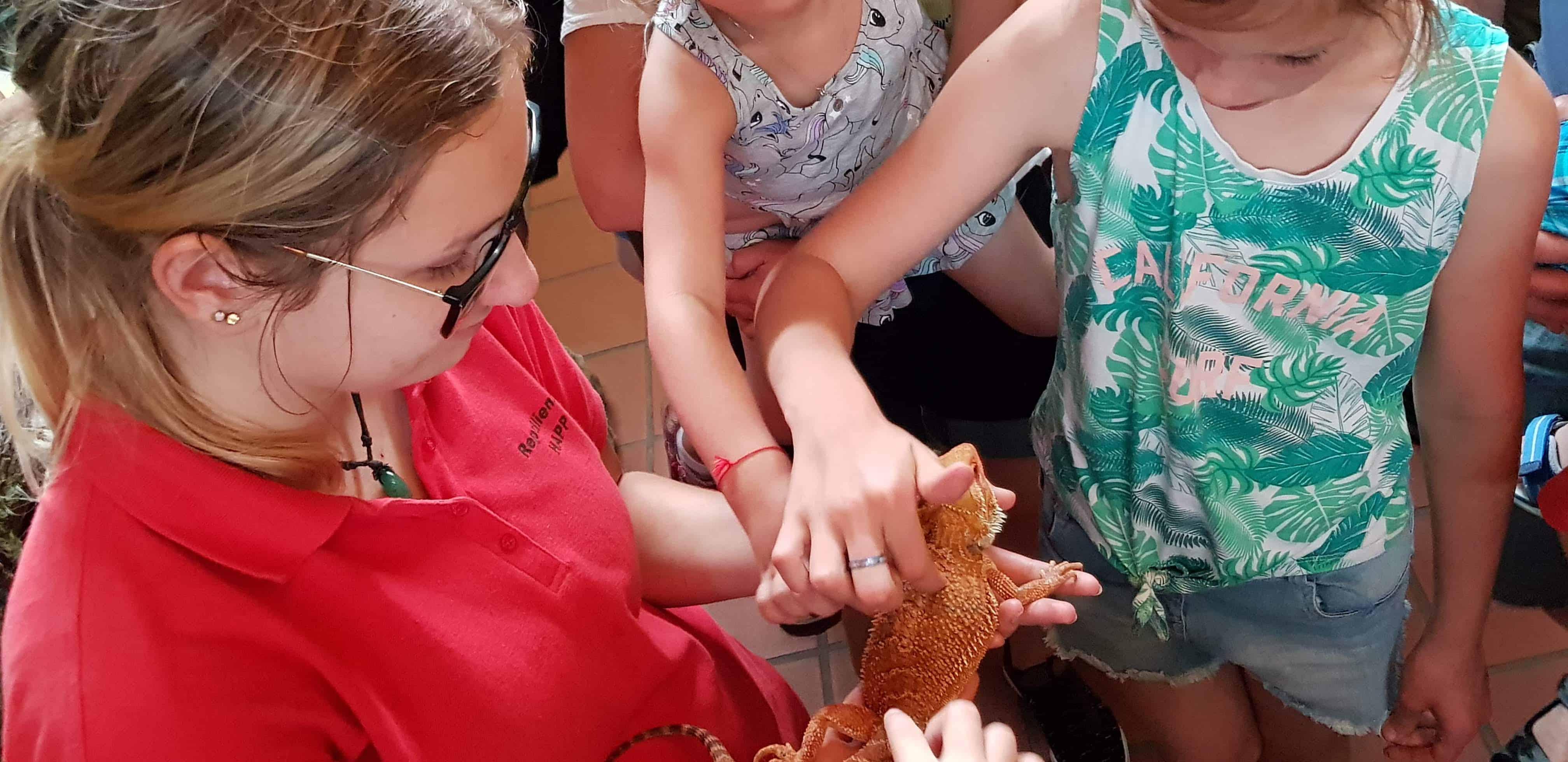 Kinderprogramm Reptilienzoo Happ in Kärnten