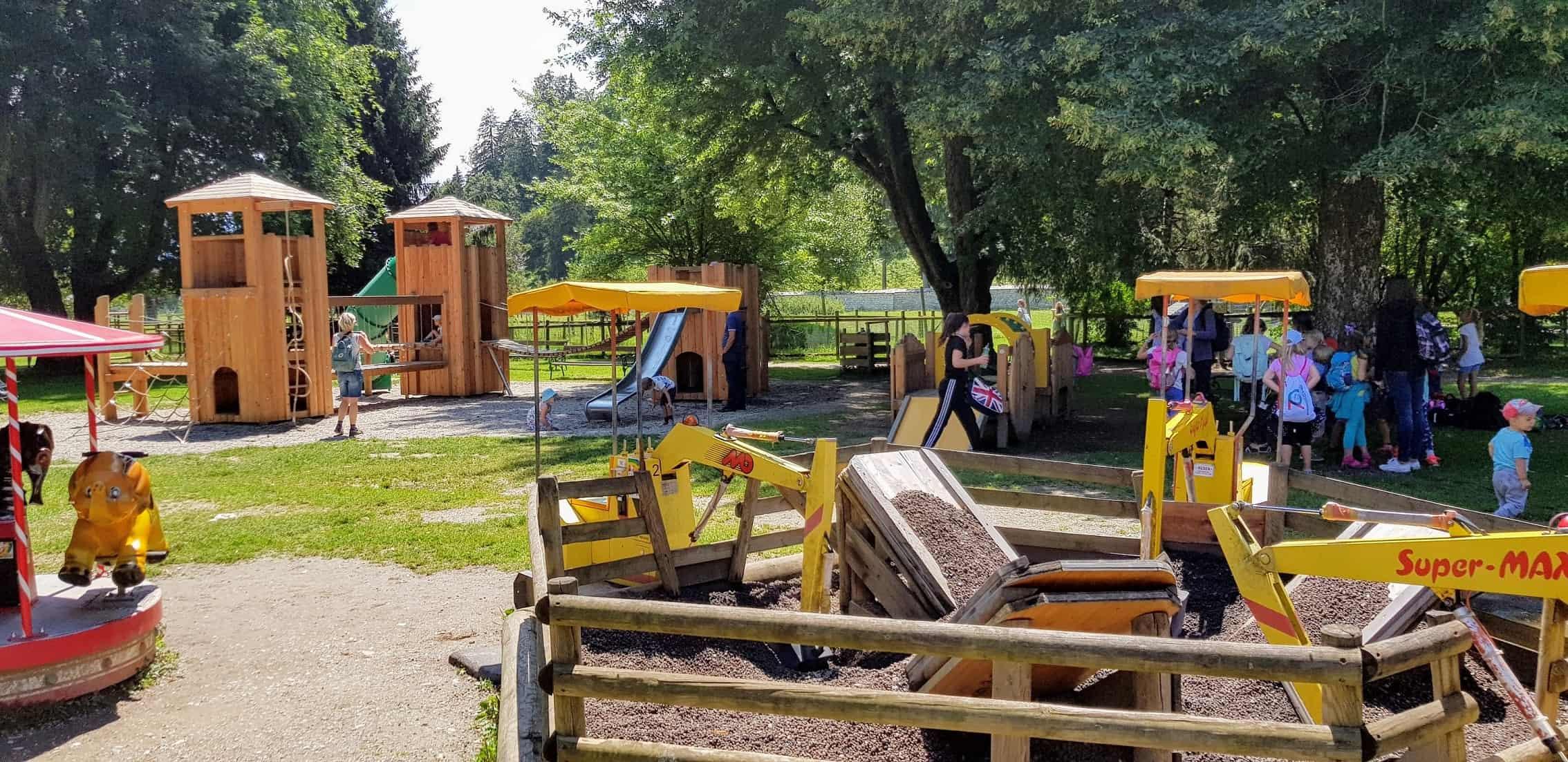 Kinderspielplatz Tierpark Rosegg Aktivitäten Kärnten Wörthersee