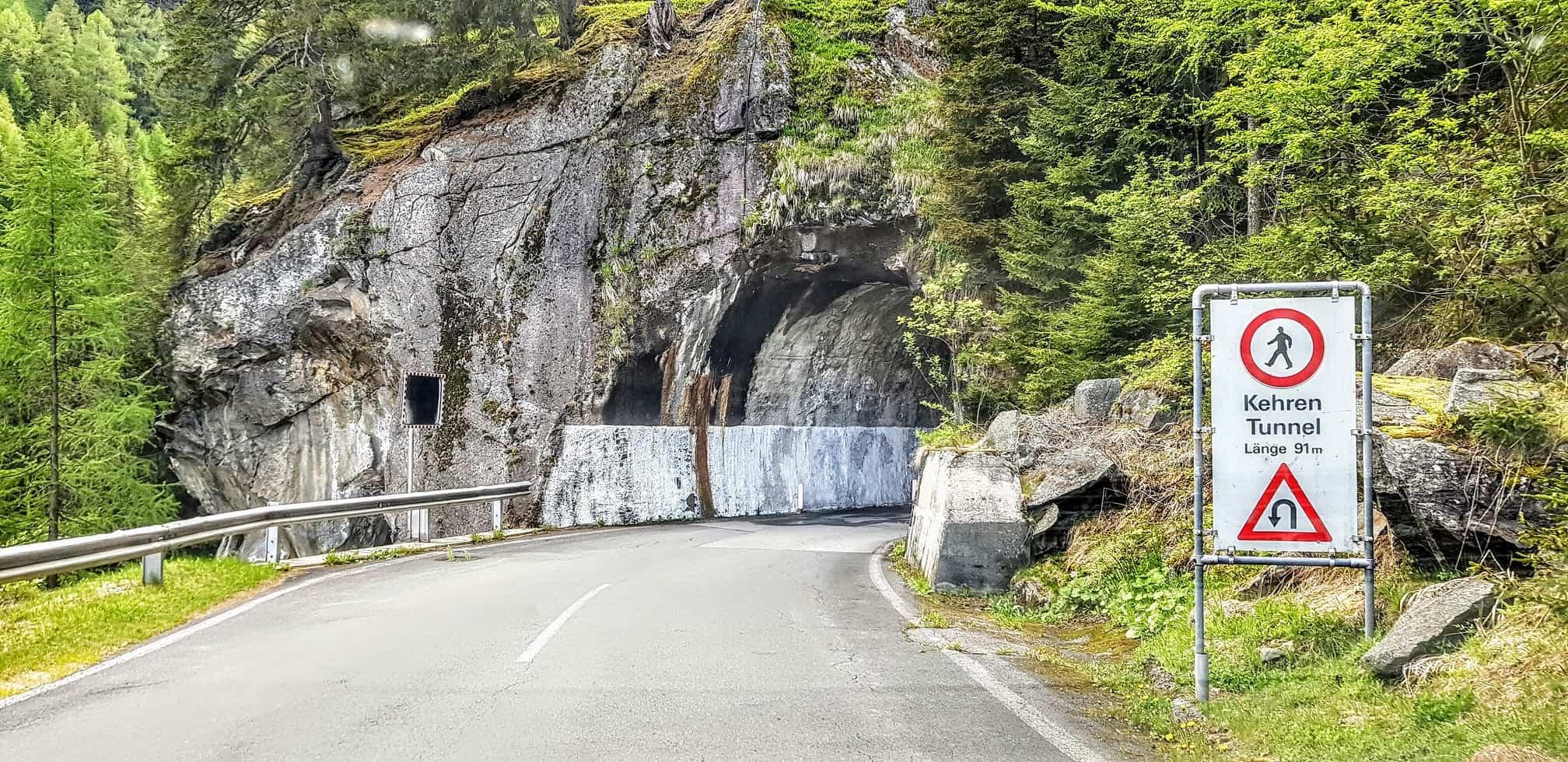 Tunnel auf Malta Hochalmstraße - Mautstraße in Kärnten