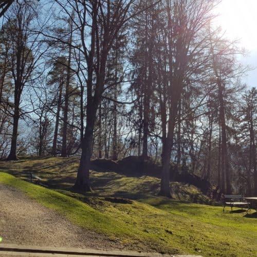 Rastplätze Tierpark Rosegg Kärnten bei Rundwanderung mit Kindern