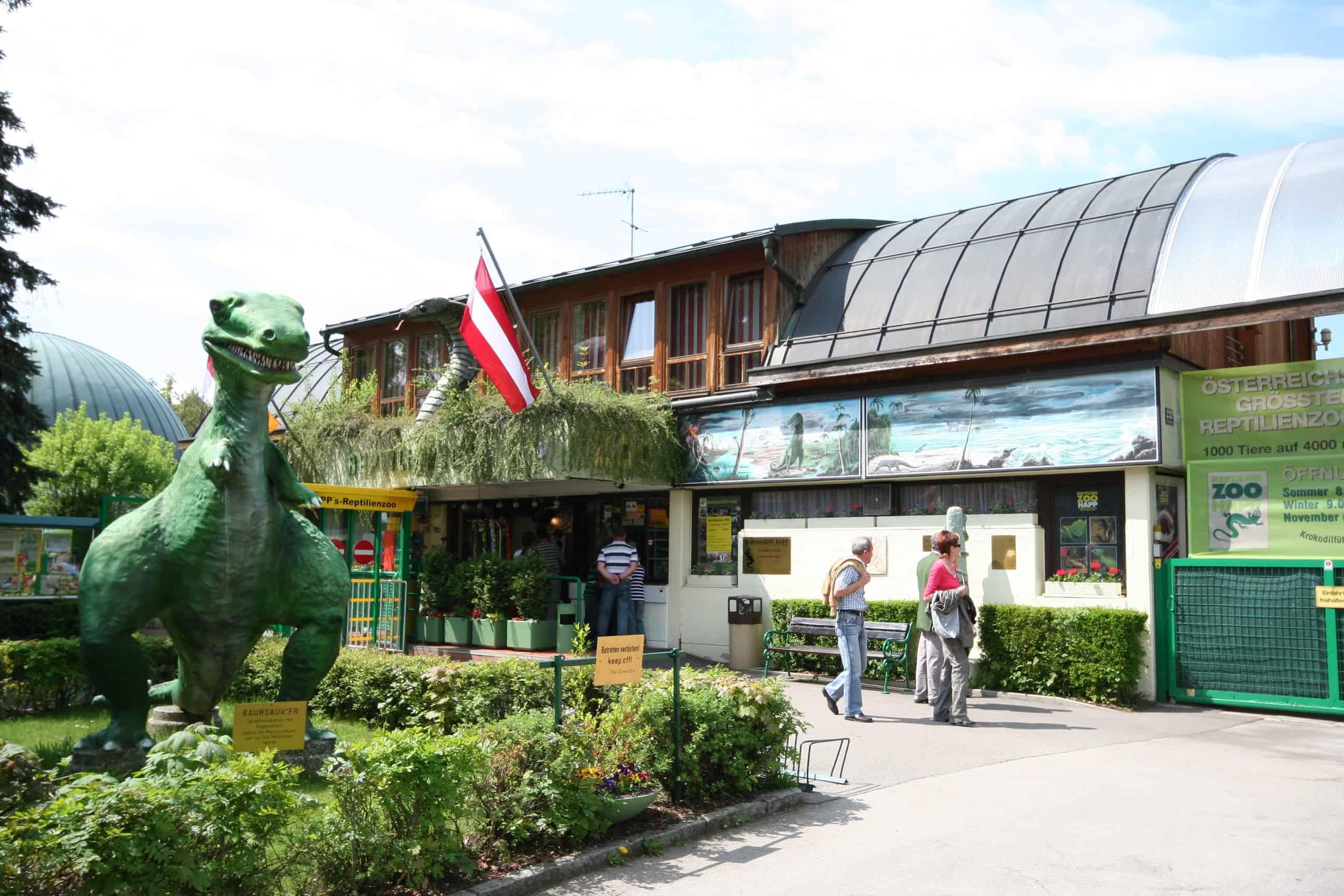 Reptilienzoo Happ Klagenfurt Wörthersee familienfreundliches Ausflugsziel Kärnten - Eingang