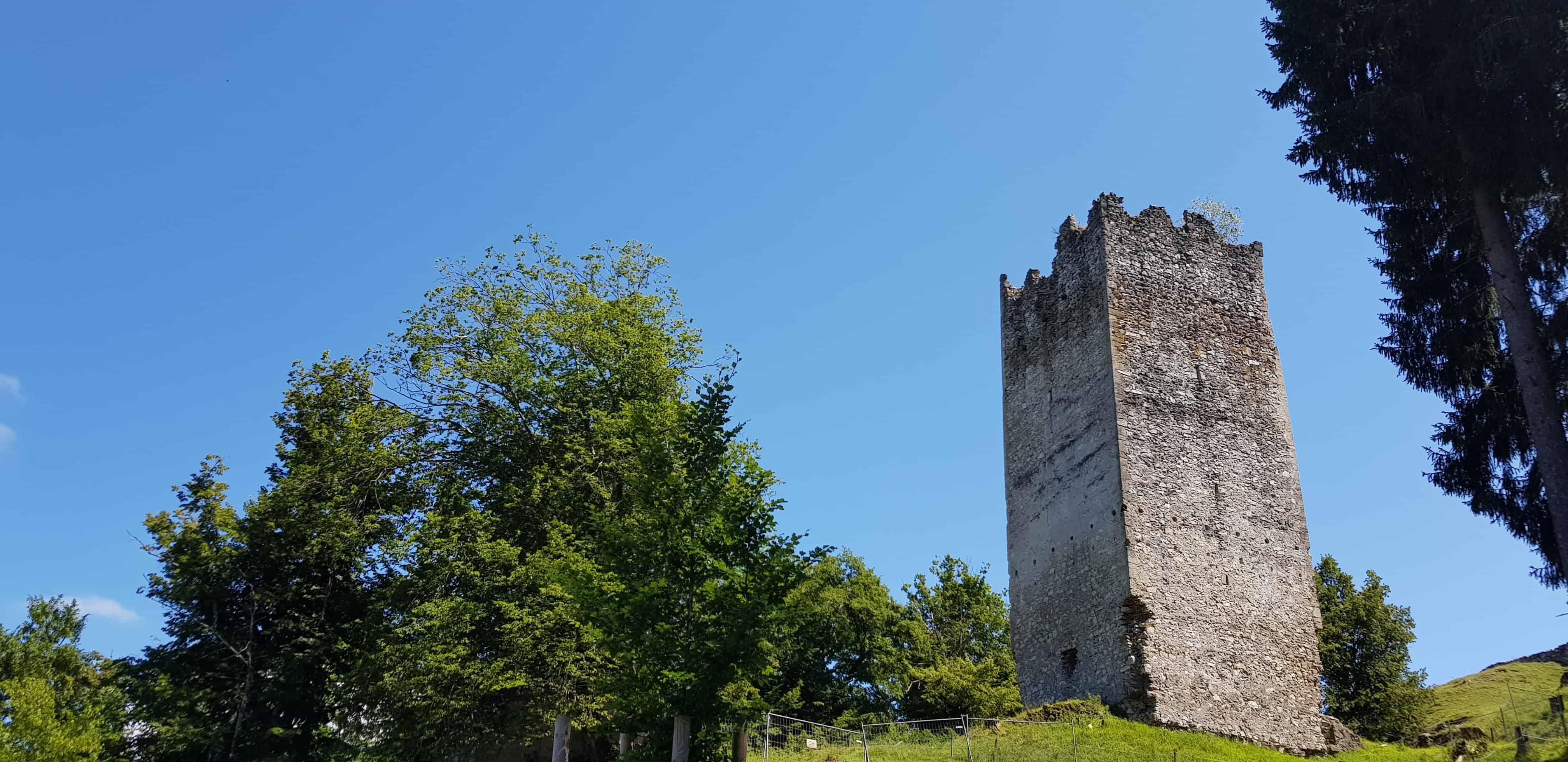 Ruine Rosegg mitten im Tierpark Rosegg in Kärnten