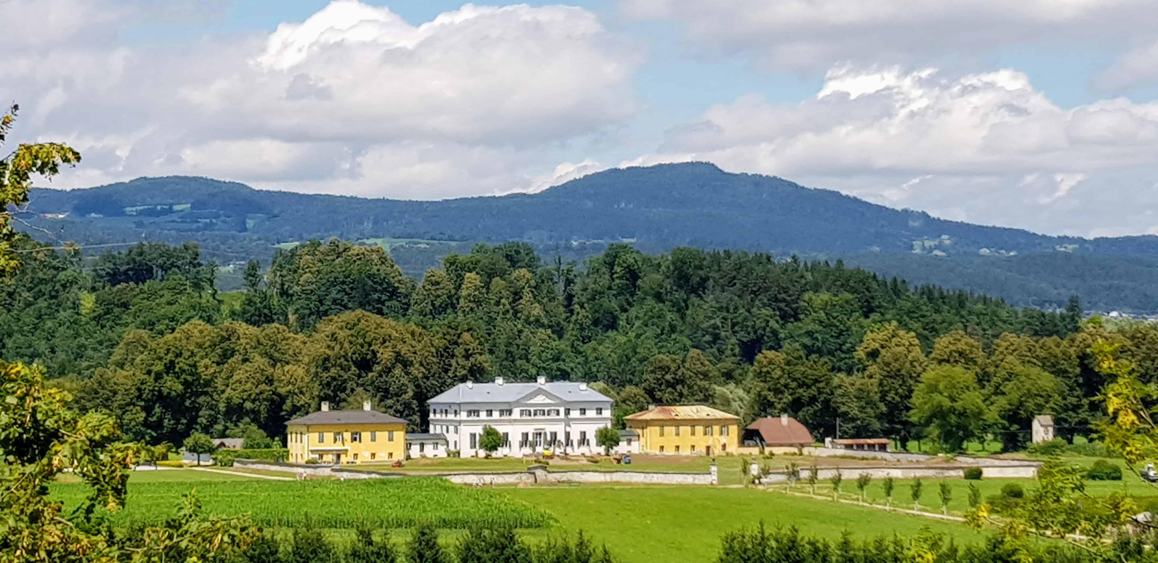 Sehenswürdigkeiten Kärnten Schloss Rosegg mit Tierpark und Labyrinth