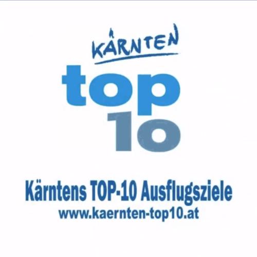 Tierpark Schloss und Labyrinth Rosegg ist eines von Kärntens TOP-10 Ausflugszielen - Bild mit Logo und Webadresse www.kaernten-top10.at