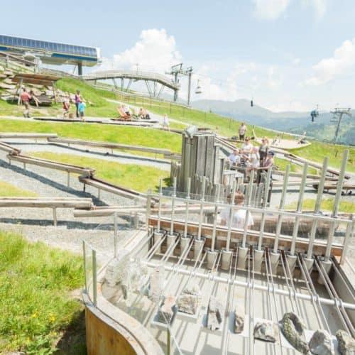 Kinderspielplatz Nocky's Almzeit auf der Turracher Höhe in Kärnten an der Grenze zu Steiermark in Österreich