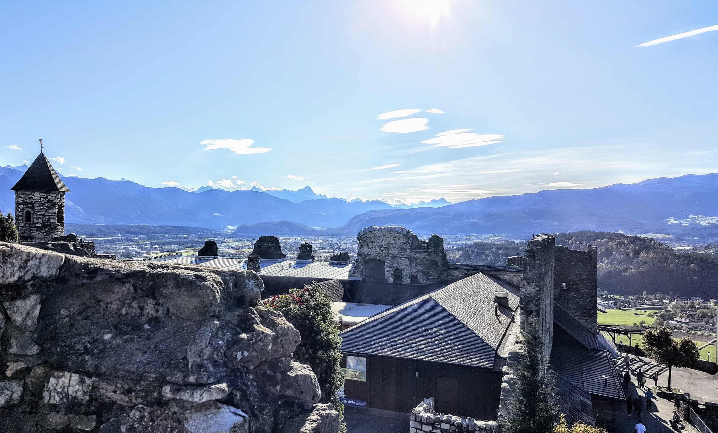 Burgruine Landskron bei Villach am Ossiacher See - Aussicht