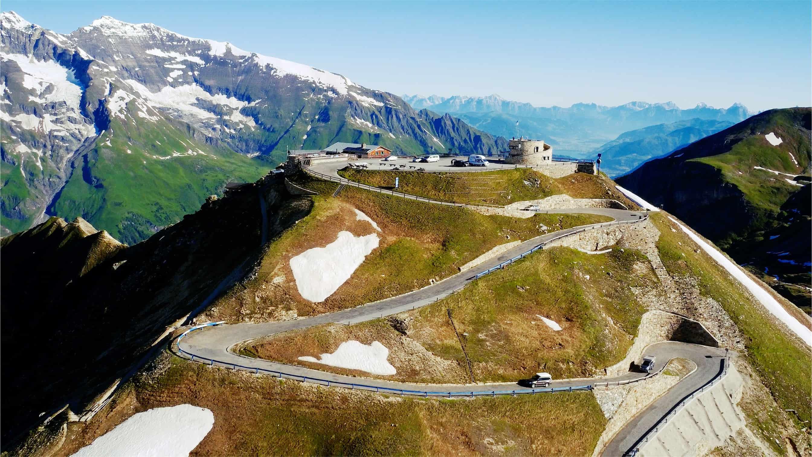 Edelweiß Spitze im Nationalpark Hohe Tauern entlang der Großglockner Hochalpenstraße - alpine Panoramastraße im Nationalpark
