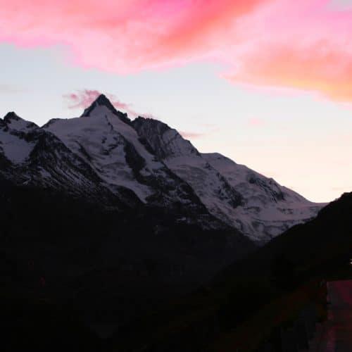 Großglockner - Sehenswürdigkeit in Kärnten - bei Sonnenuntergang