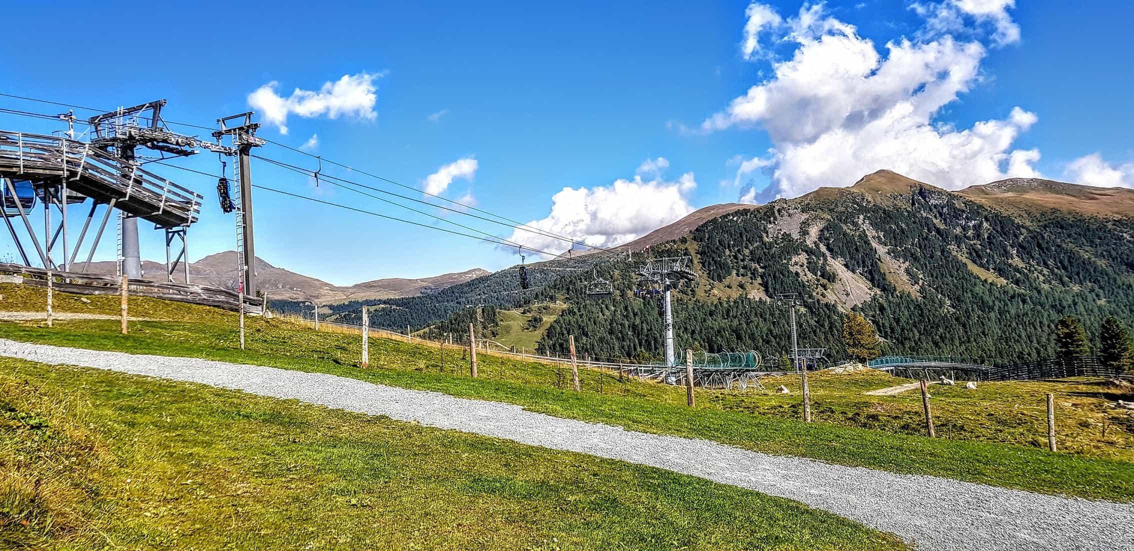 Die Panoramabahn auf der Turrach im Sommer - Bergstation. Gratis mit der Kärnten Card.