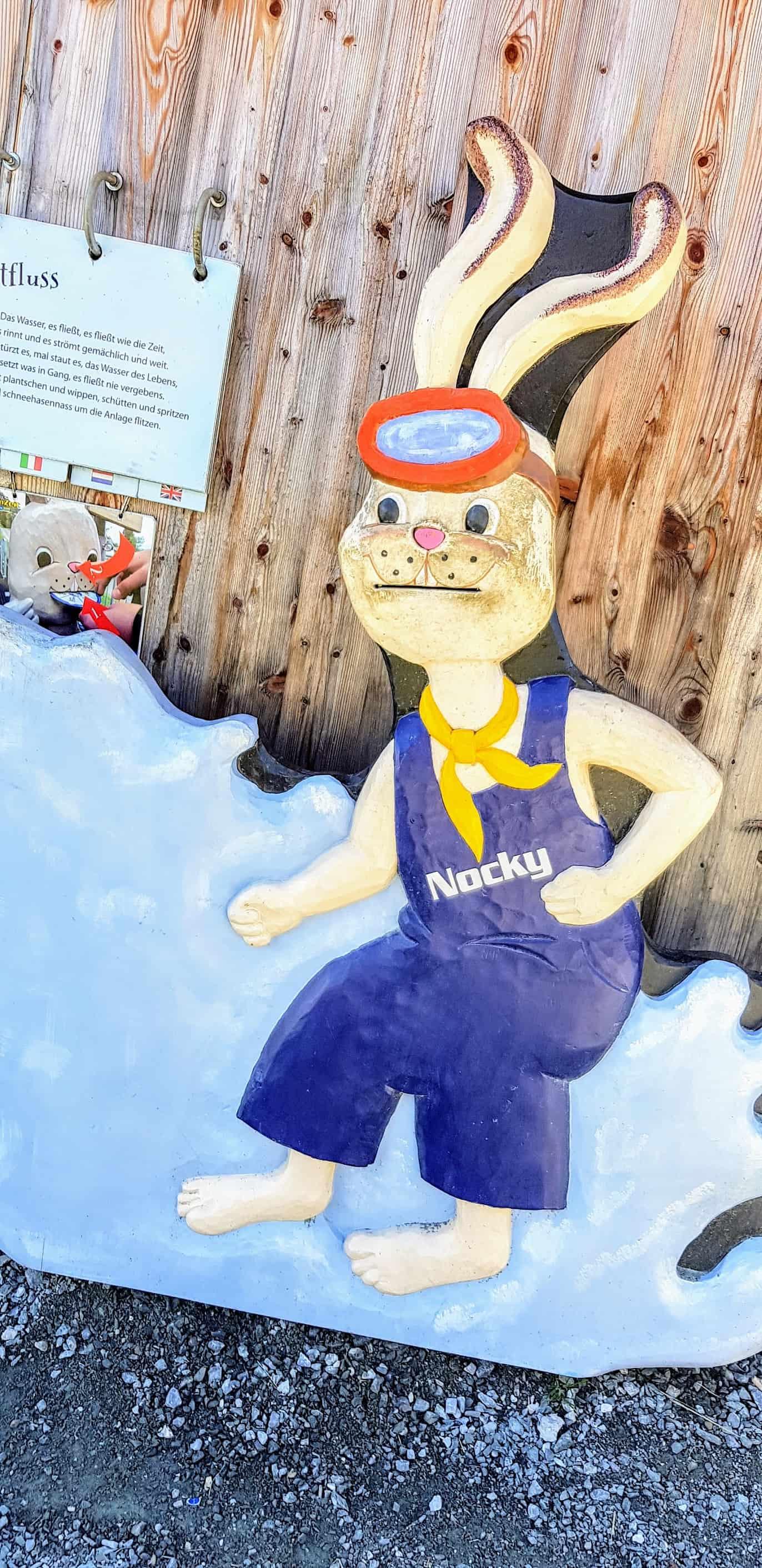 Nocky Kindermaskottchen auf der Turracher Höhe - Nocky Flitzer & Kinderspielplatz Nocky's Almzeit