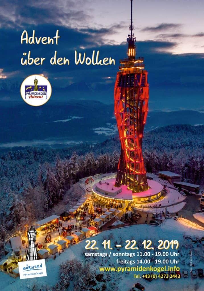 Christkindlmarkt Pyramidenkogel Öffnungszeiten - Adventmarkt Kärnten Wörthersee Plakat
