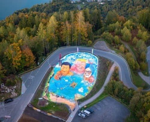 Sehenswürdigkeiten Kärnten - 3D-Kunstwerk am Pyramidenkogel in Österreich. Ein Beitrag für den Klimaschutz.