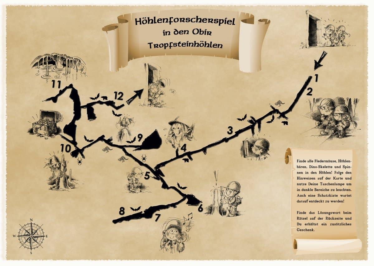 Familienfreundliche Schatzsuche in Obir Tropfsteinhöhle in Kärnten
