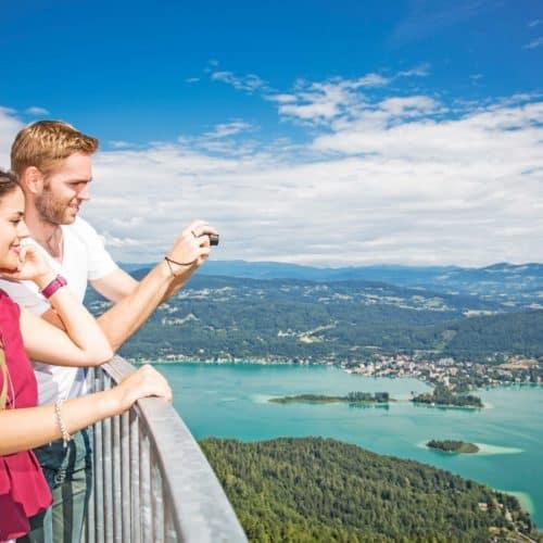Die schönsten Ausflüge in Kärnten: Pyramidenkogel mit traumhafter Aussicht auf den Wörthersee. Kärntens TOP-10 Ausflugsziele - Österreich Urlaub