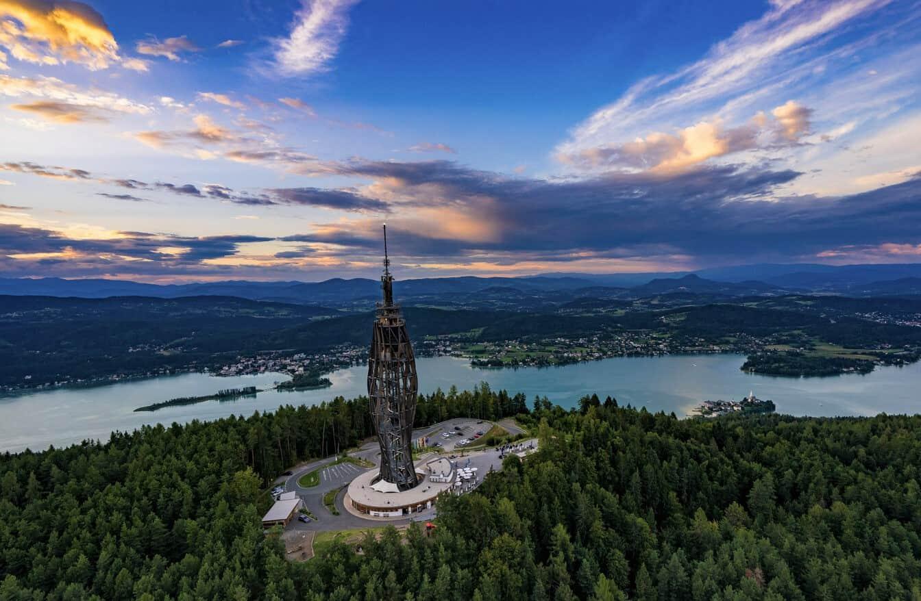 Pyramidenkogel am Wörthersee in Kärnten - Urlaubsland in Österreich