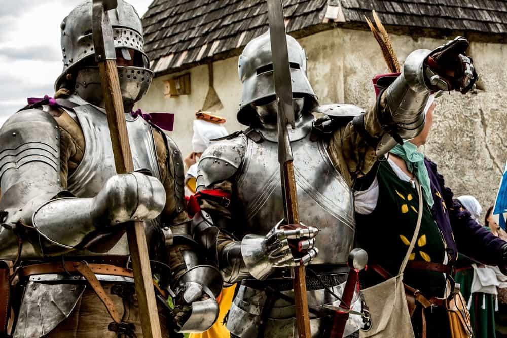 Ritter am Ritterfest der Burg Hochosterwitz