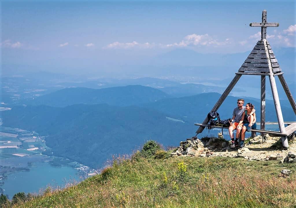 Ausflüge und Wandern Villach Gerlitzen Alpe mit Panorama Ossiacher See