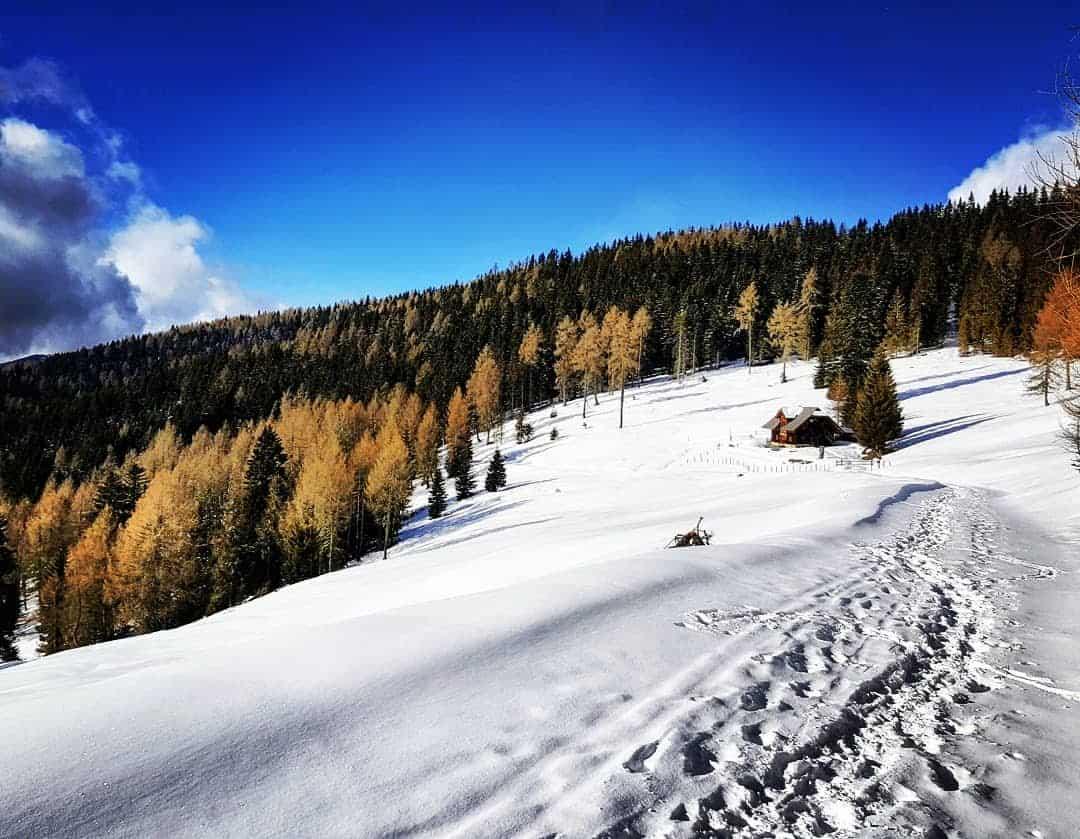 Winter wandern Kärnten Gerlitzen Alpe Villach