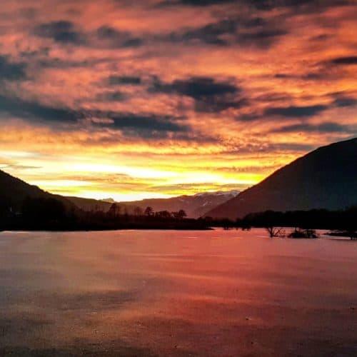 Winterwandern Villach Ossiacher See Bleistätter Moor Kärnten