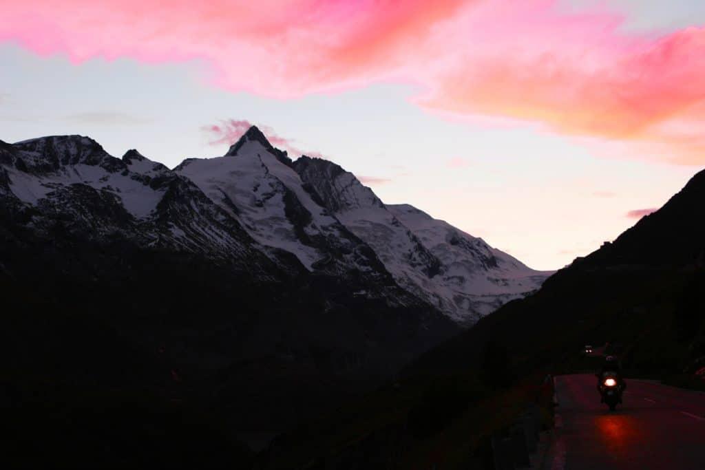 Schwarzer Berg Großglockner Sonnenuntergang Kärnten