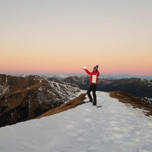 Winterwanderung Kärnten Schoberriegel Turracher Höhe in Österreich - Nockberge & Schnee bei Vollmond