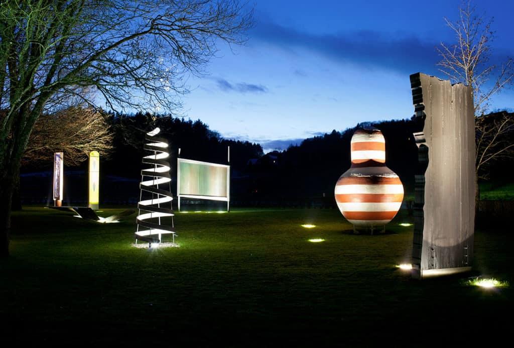 Sehenswerter Skulpturenpark im Rosental von Holzbau Gasser in Kärnten