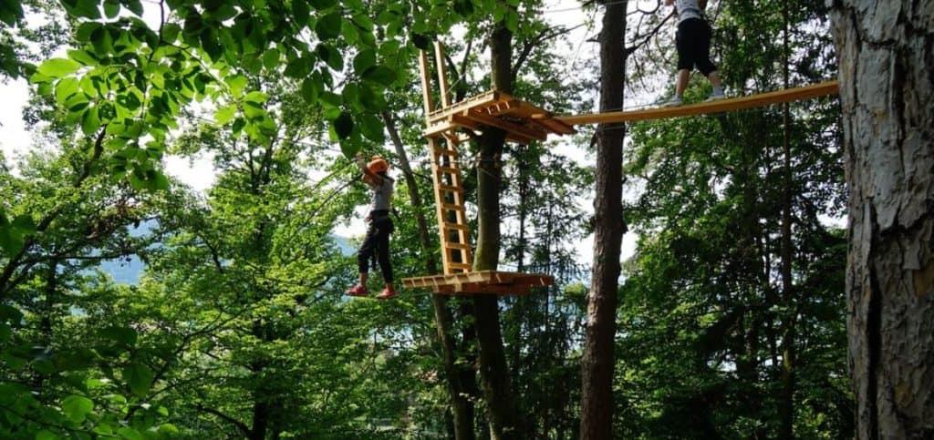 Ausflugsziel Waldseilpark Wörthersee in Pörtschach