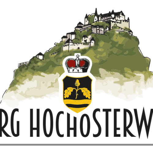 Burgen und Schlösser in Österreich - Burg Hochosterwitz. Logo.