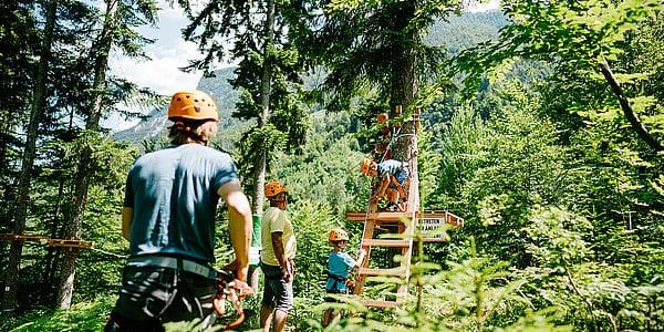 Flying Fox Park in Kärnten bei Wildensteiner Wasserfall Nähe Klopeiner See