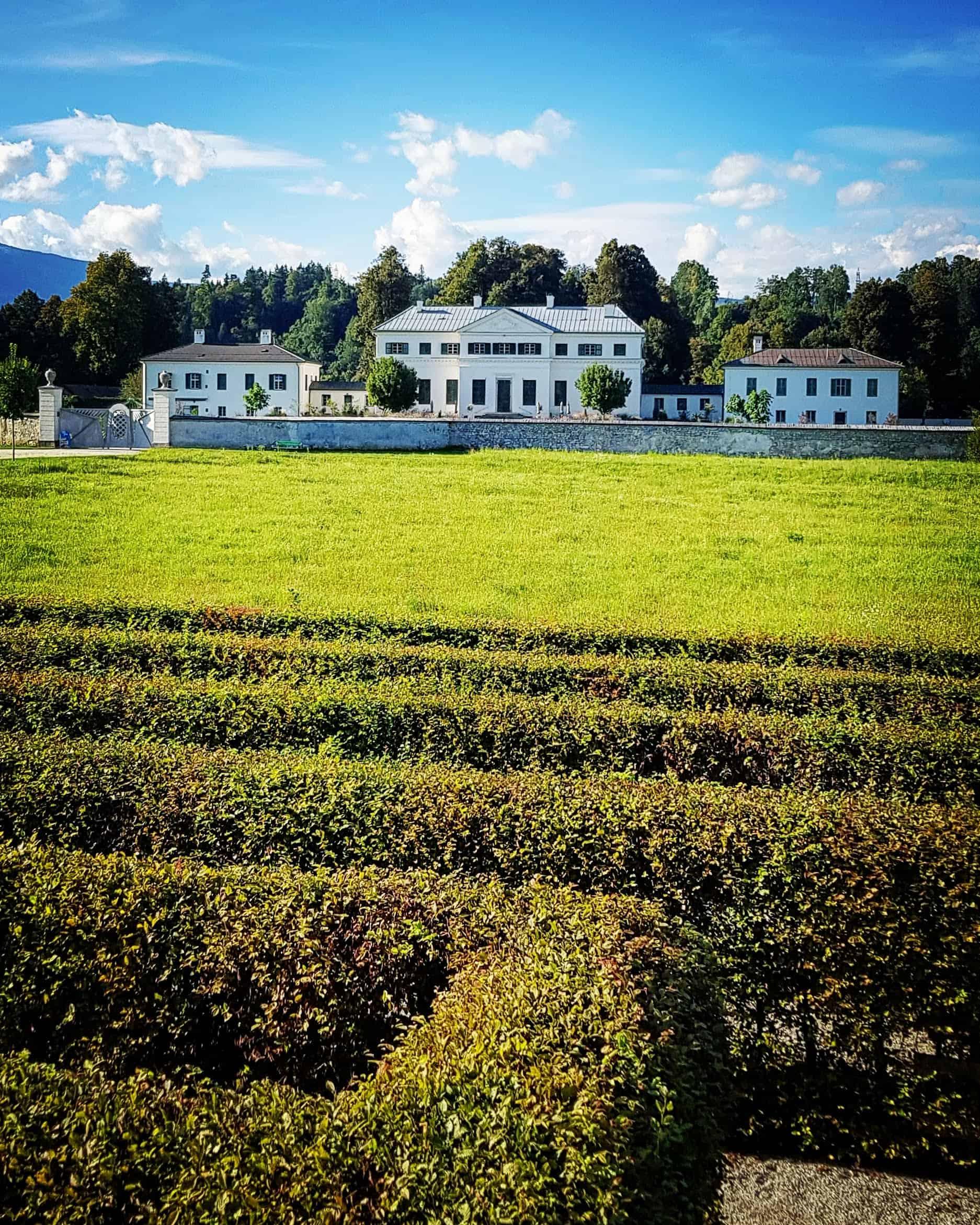 Schloss Rosegg mit Labyrinth bei Urlaub in Österreich