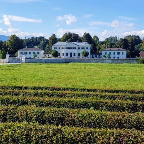 Schloss Rosegg und Labyrinth in Österreich - Sehenswürdigkeit & Urlaub in Kärnten