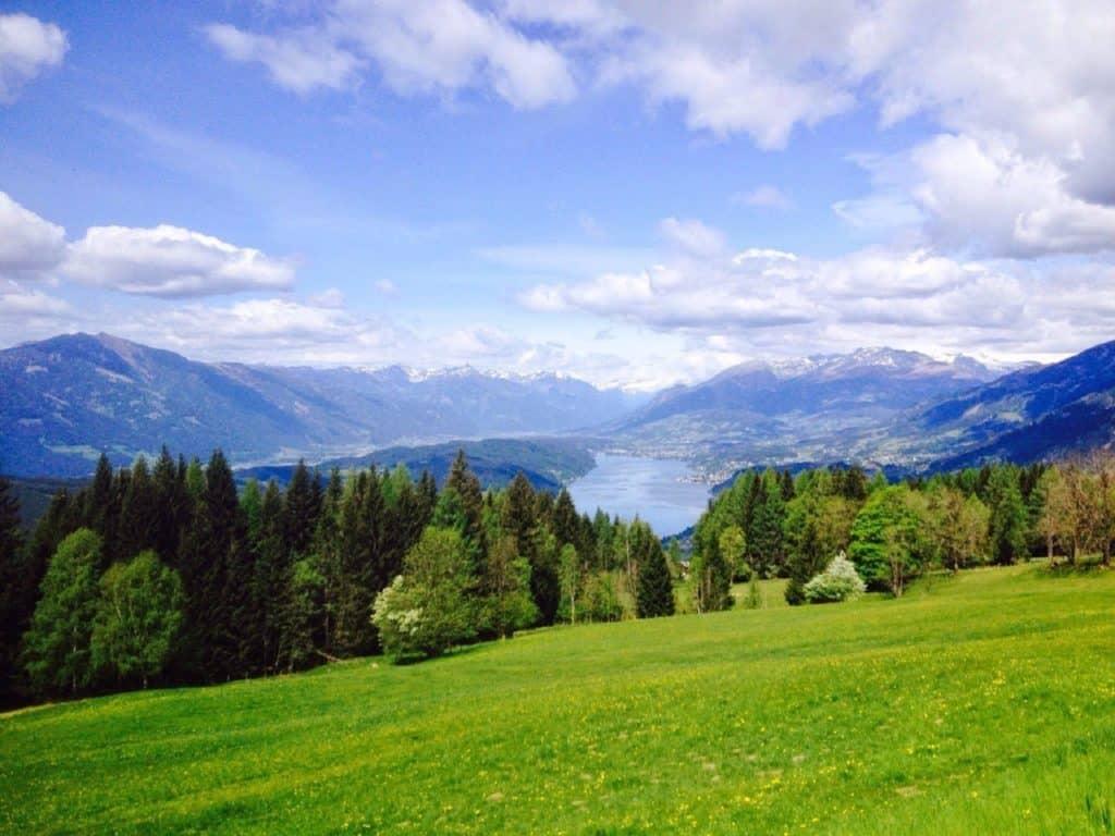 Millstätter See Aussicht Gschriet in Kärnten - Urlaub und wandern in Österreich