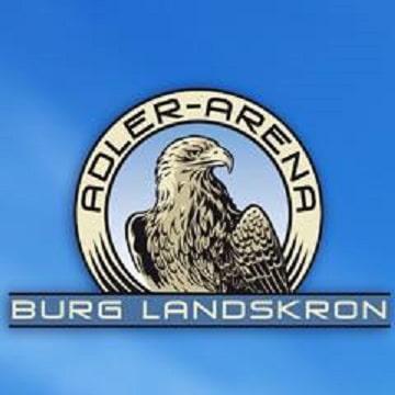 TOP Ausflugsziel Kärnten - Adlerarena Burg Landskron. Logo mit Adler
