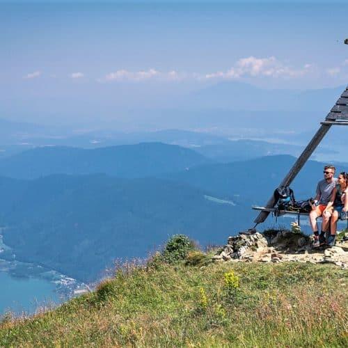 Ausflug mit Kanzelbahn zur Wanderung auf die Gerlitzen Alpe beim Ossiacher See