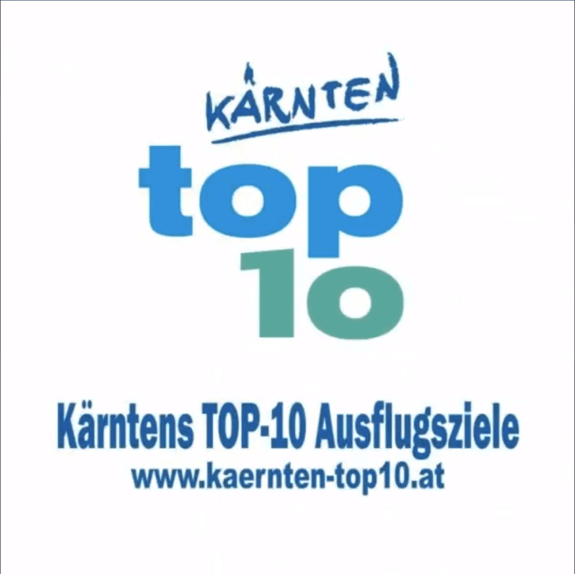 Ausflugsziele Region Villach Faaker Ossiacher See und Gerlitzen von Kärntens TOP-10 - Logo