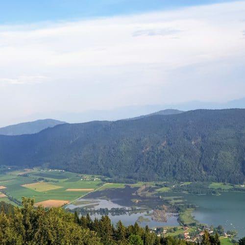 Bleistätter Moor in Ossiach bei Feldkirchen in der Region Villach Kärnten in Österreich