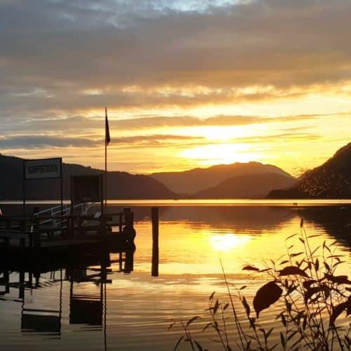 Villach Ausflugsziele - Schiffsanlegestelle am Ossiacher See