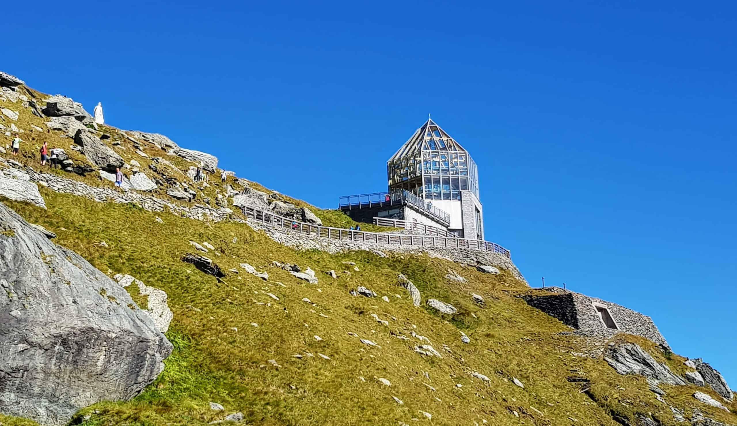 Wanderung zur Swarovski Sternwarte bei Kaiser Franz Josefs Höhe - Großglockner Hochalpenstraße in Österreich.