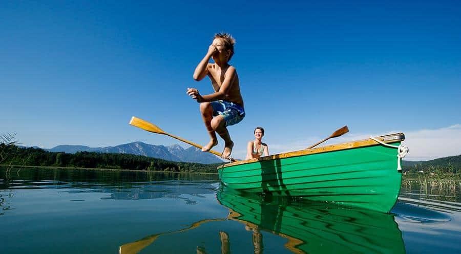 Aktivitäten Klopeiner See mit Kindern - Badesee